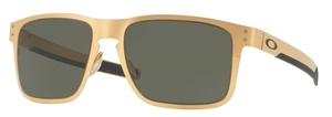 Oakley HOLBROOK METAL OO4123 08 Satin Gold with Dark Grey Lenses