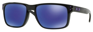 Oakley Holbrook OO9102 Black Ink with Polarized Violet Iridium Lenses