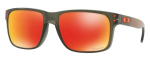 Oakley Holbrook OO9102 E7 Matte Olive Ink with Prizm Ruby