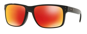 Oakley Holbrook OO9102 F1 Polished Black with Prizm Ruby Polarized