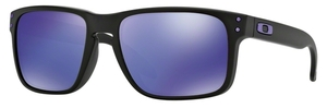 Oakley Holbrook OO9102 26 Julian Wilson: Matte Black with Violet Iridium Lenses