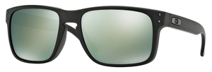 Oakley Holbrook OO9102 Matte Black with Polarized Emerald Iridium Lenses