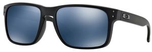 Oakley Holbrook OO9102 Matte Black with Polarized Ice Iridium Lenses