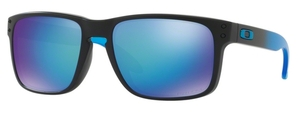 Oakley Holbrook OO9102 D2 Matte Black with Polarized Prizm Sapphire Lenses