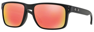 Oakley Holbrook OO9102 51 Matte Black with Polarized Ruby Iridium Lenses