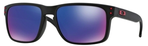 Oakley Holbrook OO9102 36 Matte Black with +Red Iridium Lenses