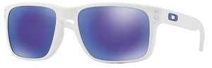 Oakley Holbrook OO9102 Matte White with Violet Iridium Lenses