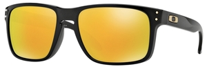 Oakley Holbrook OO9102 Polished Black (S WHITE SS) with 24K Iridium Lenses