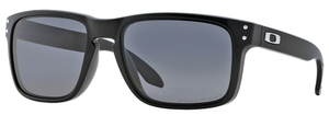 Oakley Holbrook OO9102 Polished Black with Polarized Grey Lenses  02