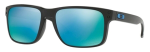 Oakley Holbrook OO9102 C1 Polished Black with Polarized Prizm Deep H20 Lenses