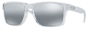 Oakley Holbrook OO9102 Polished Clear with Chrome Iridium Lenses  06