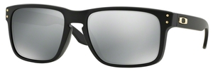 Oakley Holbrook OO9102 SW Gold Series: Matte Black with Polarized Grey Lenses