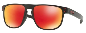 Oakley Holbrook R OO9377 07 Polished Black with Prizm Ruby Polarized Lenses