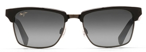 Maui Jim Kawika 257 Black Gloss/Antique Pewter with Grey Polarized Lenses