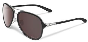 Oakley Kickback OO4102 Satin Chrome/Black with Polarized OO Black Iridium Lenses
