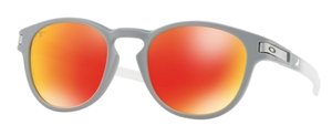 Oakley Latch OO9265 33 Matte Grey with Prizm Ruby