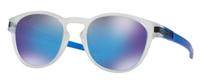 Oakley Latch OO9265 48 Matte Clear with Prizm Sapphire
