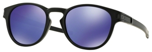 Oakley Latch OO9265 06 Matte Black with Violet Iridium Lenses