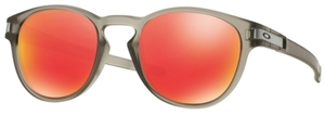 Oakley Latch OO9265 15 Matte Grey Ink with Ruby Iridium Lenses