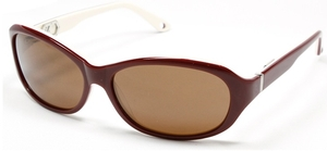 Alexander Daas Love maroon / white with brown lens