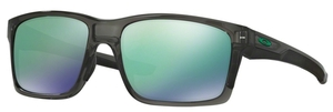Oakley MAINLINK OO9264 04 Grey Smoke with Jade Iridium Lenses