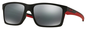 Oakley MAINLINK OO9264 12 Matte Black/Red with Black Iridium Lenses