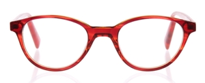 Eyebobs Miss Judged Red/Orange Front with Red/Orange Striped Temples