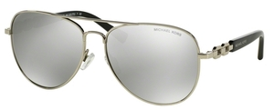 Michael Kors MK1003 FIJI Silver with Silver Mirror Lenses