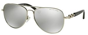Michael Kors MK1003 FIJI Silver with Silver Mirror Lenses