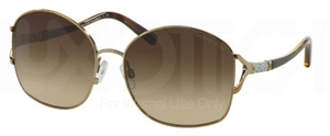Michael Kors MK1004B Gold / Striped Temples with Brown Gradient Lenses