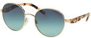 Michael Kors MK1007 SADIE III Gold/Ocean Confetti Tortoise w/ Teal Gradient Lenses