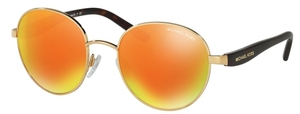 Michael Kors MK1007 SADIE III Gold/Tortoise w/ Orange Mirror Lenses