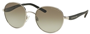 Michael Kors MK1007 SADIE III Silver/Black w/ Green Gradient Lenses