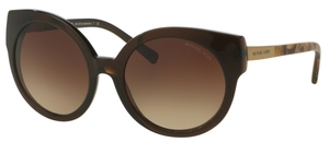 Michael Kors MK2019 ADELAIDE I DK Brown Tigers Eye w/ Smoke Gradient Lenses