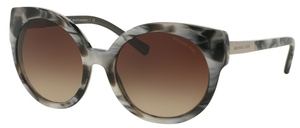 Michael Kors MK2019 ADELAIDE I Metallic Black Marble w/ Smoke Gradient Lenses