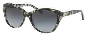 Michael Kors MK2025F Snow Leopard Tortoise w/ Light Grey Gradient Lenses