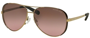 Michael Kors MK5004 CHELSEA Gold/DK Chocolate Brown w/ Brown Rose Gradient Lenses