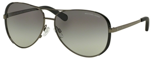 Michael Kors MK5004 CHELSEA Gunmetal/Black w/ Grey Gradient Lenses