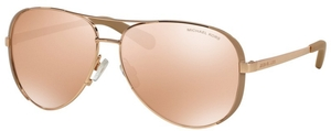 Michael Kors MK5004 CHELSEA Rose Gold/Taupe w/ Rose Gold Flash Lenses