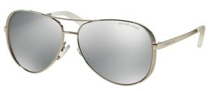 Michael Kors MK5004 CHELSEA Silver-Tone w/ Silver Mirror POLARIZED Lenses