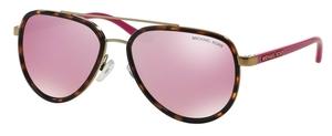 Michael Kors MK5006 PLAYA NORTE Tortoise Gold w/ Milky Pink Lenses