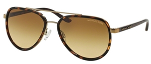 Michael Kors MK5006 PLAYA NORTE Tortoise Gold w/ Warm Brown Lenses