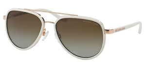 Michael Kors MK5006 PLAYA NORTE White/Rose Gold w/ Brown Gradient POLARIZED Lenses