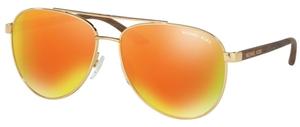 Michael Kors MK5007 HVAR Gold w/ Orange Mirror Lenses