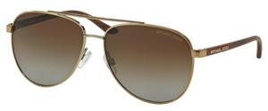 Michael Kors MK5007 HVAR Gold Wood w/ Brown Gradient POLARIZED Lenses