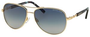 Michael Kors MK5014 SABINA III Gold w/ Blue Gradient Lenses