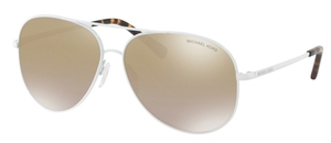 Michael Kors MK5016 KENDALL White w/ Gold Mirror Gradient Lenses