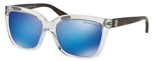 Michael Kors MK6016 SANDESTIN Clear Tortoise w/ Blue Mirror Lenses