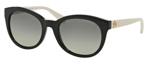 Michael Kors MK6019 CHAMPAGNE BEACH Black Off White w/ Grey Gradient Lenses