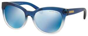 Michael Kors MK6035 MITZI I Blue Clear Gradient w/ Blue Mirror Lenses
